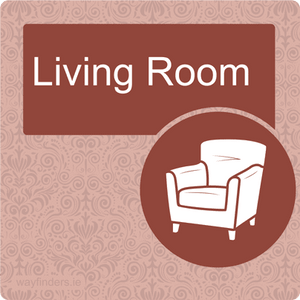 Nursing Home Dementia Friendly Door Sign Living Room
