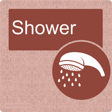 Load image into Gallery viewer, Nursing Home Dementia Friendly Door Sign Shower