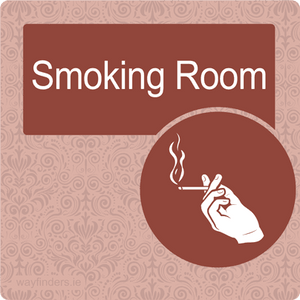 Nursing Home Dementia Friendly Door Sign Smoking Room
