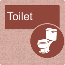 Load image into Gallery viewer, Red Dementia Toilet sign