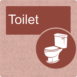 Red Dementia Toilet sign