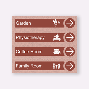 Dementia Friendly Signage Directional Care Home Signs Red