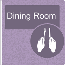 Load image into Gallery viewer, Dementia Friendly Projecting Dining Room Sign