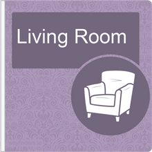 Load image into Gallery viewer, Dementia Friendly Projecting Living Room Sign