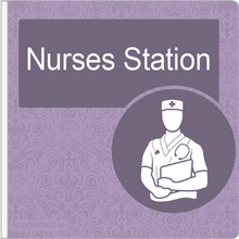 Load image into Gallery viewer, Dementia Friendly Projecting Nurses Station Sign