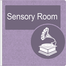 Load image into Gallery viewer, Dementia Friendly Projecting Sensory Room Sign