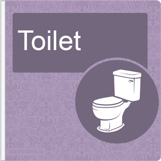 Dementia Friendly Projecting Toilet Sign