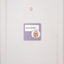 Load image into Gallery viewer, Dementia Friendly Signage Personalised Room Sign Purple