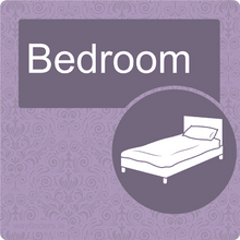 Load image into Gallery viewer, Nursing Home Dementia Friendly Door Sign Bedroom