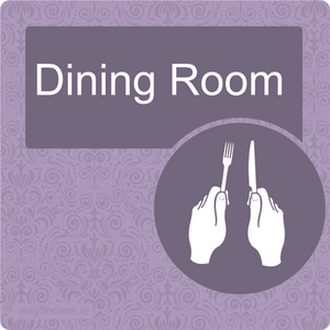 Nursing Home Dementia Friendly Door Sign Dining Room