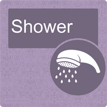 Load image into Gallery viewer, Nursing Home Dementia Friendly Door Sign Shower Room