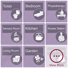 Load image into Gallery viewer, Dementia Sign - Heather Purple Door - Signage for Care