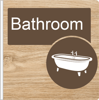 Dementia Friendly Projecting BathroomSign