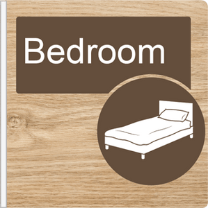 Dementia Friendly Projecting Bedroom Sign