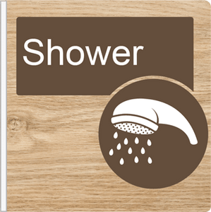 Dementia Friendly Projecting Shower Sign