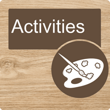 Load image into Gallery viewer, Dementia Friendly Activities Door Sign