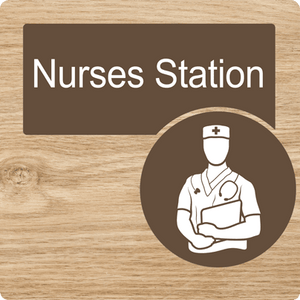 Dementia Friendly Nurses Station Door Sign