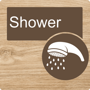 Dementia Friendly Shower Door Sign