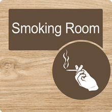 Load image into Gallery viewer, Dementia Friendly Smoking Room Door Sign