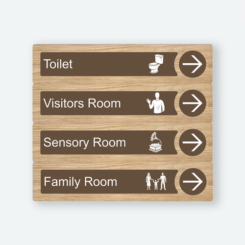 Dementia Friendly Signage Directional Care Home Signage Oak