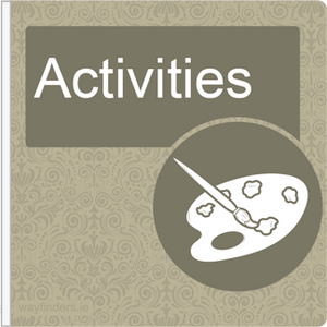 Dementia Friendly Projecting Activities Sign