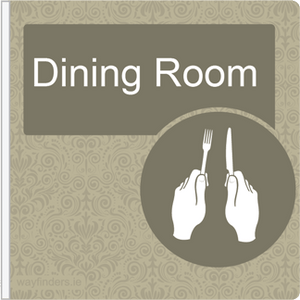 Dementia Friendly Projecting Dining Room Sign