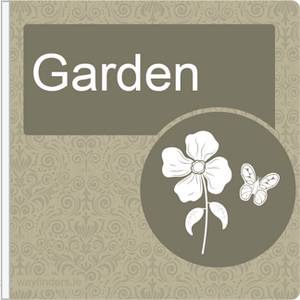 Dementia Friendly Projecting Garden Sign