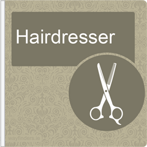 Dementia Friendly Projecting Hairdresser Sign