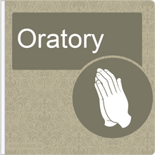 Load image into Gallery viewer, Dementia Friendly Projecting Oratory Sign