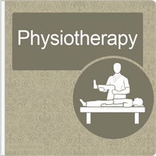 Load image into Gallery viewer, Dementia Friendly Projecting Physiotherapy Sign