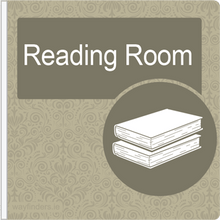 Load image into Gallery viewer, Dementia Friendly Projecting Reading Room Sign