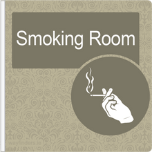 Load image into Gallery viewer, Dementia Friendly Projecting Smoking Room Sign