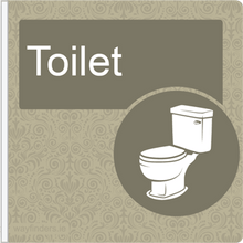 Load image into Gallery viewer, Dementia Friendly Projecting Toilet Sign