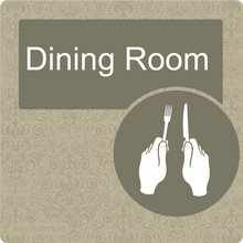 Load image into Gallery viewer, Dementia Friendly Dining Room Door Sign