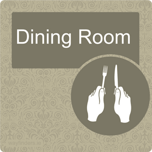 Dementia Friendly Dining Room Door Sign