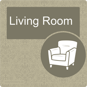 Dementia Friendly Living Room Door Sign