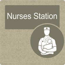 Load image into Gallery viewer, Dementia Friendly Nurses Station Door Sign