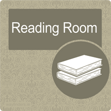 Load image into Gallery viewer, Dementia Friendly Reading Room Door Sign