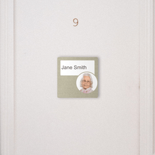 Load image into Gallery viewer, Dementia Friendly Signage Personalised Room Sign Brown