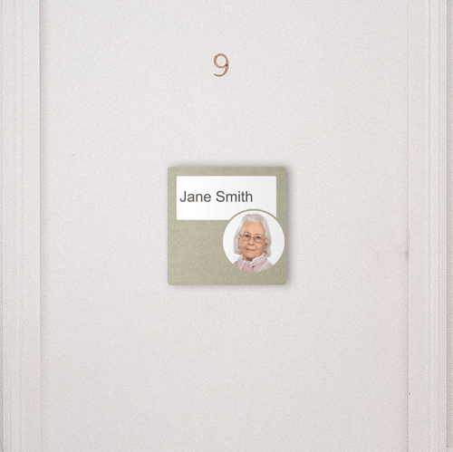 Dementia Friendly Signage Personalised Room Sign Brown