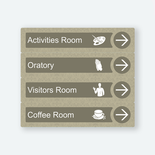 Directional Dementia Sign - Sage Brown - Signage for Care