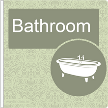 Load image into Gallery viewer, Dementia Friendly Projecting Bathroom Sign