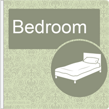 Load image into Gallery viewer, Dementia Friendly Projecting Bedroom Sign