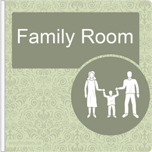 Load image into Gallery viewer, Dementia Friendly Projecting Family Room Sign