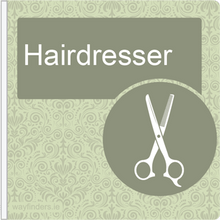 Load image into Gallery viewer, Dementia Friendly Projecting Hairdresser Sign
