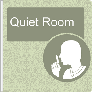Dementia Friendly Projecting Quiet Room Sign