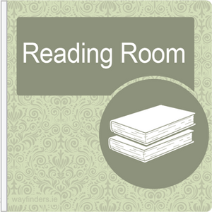 Dementia Friendly Projecting Reading Room Sign