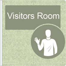 Load image into Gallery viewer, Dementia Friendly Projecting Visitors Room Sign