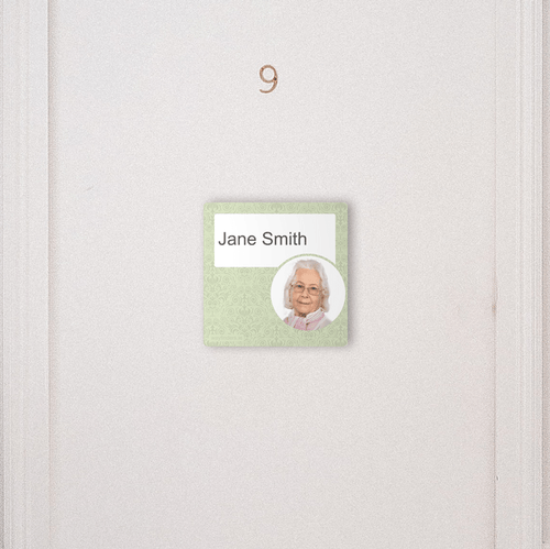 Paper Insert Dementia Sign - Veridian Green