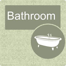 Load image into Gallery viewer, Dementia Friendly Bathroom Door Sign